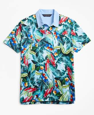 Brooks Brothers Original Fit Bold Tropical Print Polo Shirt