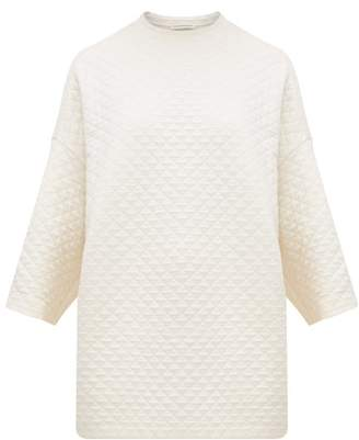 Vika Gazinskaya Quilted Cotton Blend Sweatshirt - Womens - Ivory