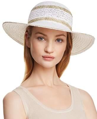 Aqua Metallic Striped Floppy Sun Hat - 100% Exclusive