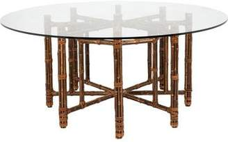Octagonal Bamboo Dining Table
