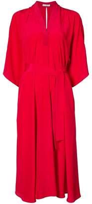 Tome V-neck belted dress