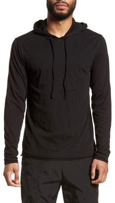 Vince Layered Long Sleeve Pullover Hoodie