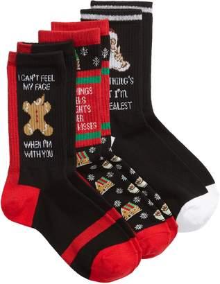 SOCKART Holiday Festive 3-Pack Crew Socks