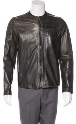 Acne Studios Leather Zip Jacket