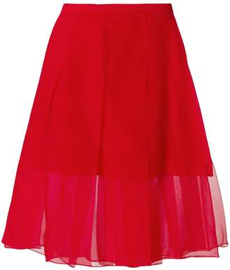 Rochas pleated sheer skirt