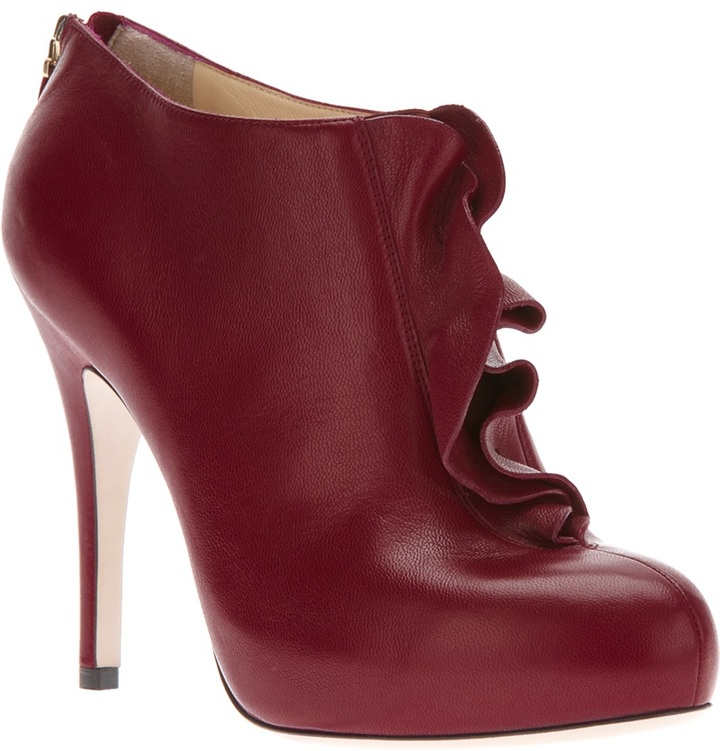 Valentino ruffled ankle boot