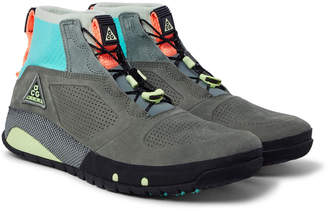 Nike ACG Ruckel Ridge Perforated Suede and Flyknit Sneakers