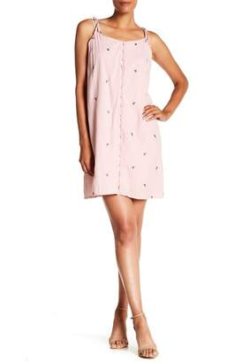 HAILEY LYN V-Neck Embroidered Dress