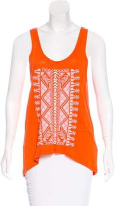 Rebecca Minkoff Embroidered Sleeveless Top