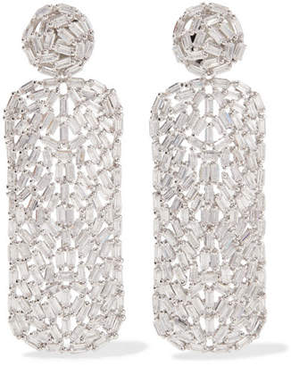 Rhodium-plated Cubic Zirconia Earrings - Silver