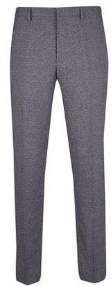 Mens Grey Grindle Slim Fit Suit Trousers