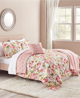 Sunham Ashley 5-Pc. Reversible King Quilt Set Bedding
