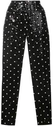 Giambattista Valli sequinned straight-leg pants