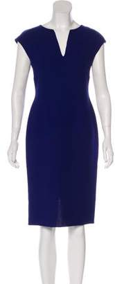 Carmen Marc Valvo Wool Midi Dress