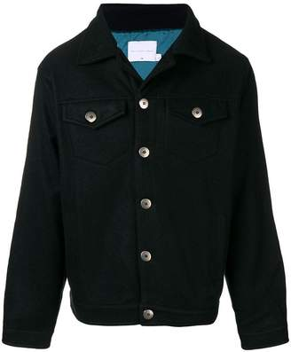 The Silted Company logo print buttoned jacket