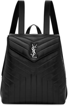 Saint Laurent Black Medium Loulou Backpack