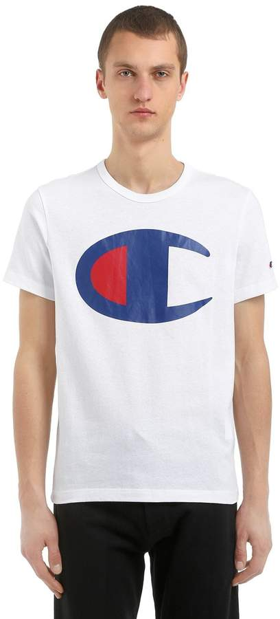 T-Shirt Aus Baumwolljersey Mit Maxilogodruck