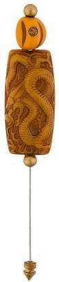 Gucci vintage-style dragon motif pin