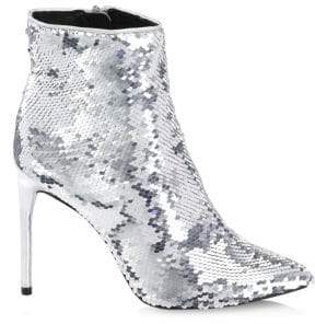 Alice + Olivia Celyn Sequin Booties