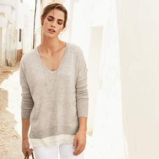 The White Company Silk Hem Wool Jumper