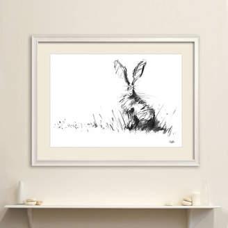 James Hollis Art The Hare Original Charcoal Drawing