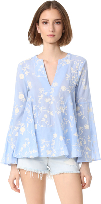 endless rose Embroidered Bell Sleeve Top $80 thestylecure.com
