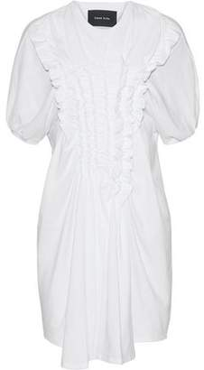 Simone Rocha Ruffled Cotton-Jersey Mini Dress