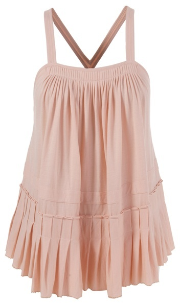 SEE BY CHLOÉ - Pleated racer back top