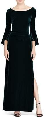 Ralph Lauren Velvet Bell-Sleeve Gown