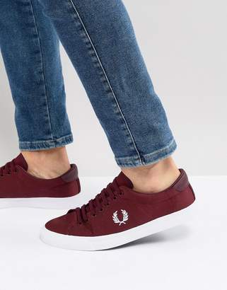 Fred Perry Underspin Nylon Sneakers In Red