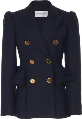 Michael Kors Collection Peplum Stretch Wool Gabardine Blazer Size: 0