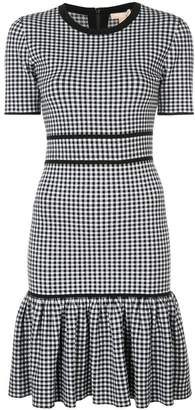 Michael Kors gingham fitted mini dress
