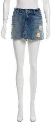 J Brand Denim Mini Skirt