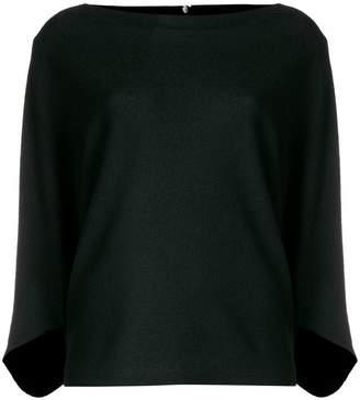 Chalayan signature drape boat neck blouse