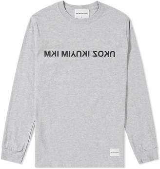 Mki MKI Long Sleeve Mix Logo Tee
