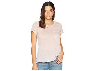 Vince Camuto Short Sleeve Romantic Thin Stripe One-Pocket Tee