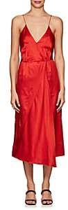 Masscob Women's Cotton-Silk Satin Tank Midi-Dress-Red