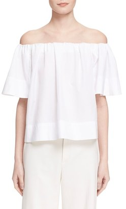 Vince Off the Shoulder Cotton Top $225 thestylecure.com