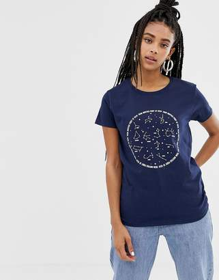 Daisy Street relaxed t-shirt with astrology print