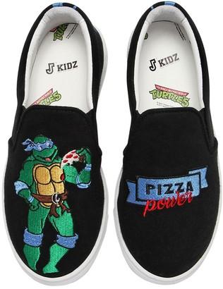 Joshua Sanders Leonardo Ninja Turtle Slip-On Sneakers