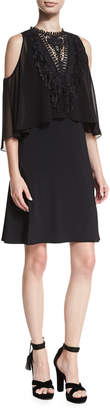 Neiman Marcus Kobi Halperin Malia Cold-Shoulder Popover Dress