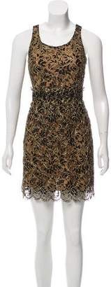 Balenciaga Gold Lace Mini Dress