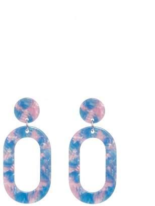 Quiz Multicoloured Oval Earrings