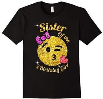 Emoji sister Of The Birthday Girl shirt