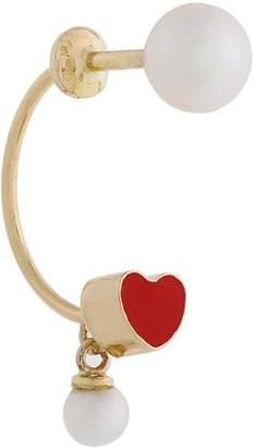 Delfina Delettrez 18kt gold Heart Piercing earring
