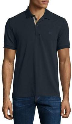 Burberry Short-Sleeve Oxford Polo Shirt, Dark Navy $175 thestylecure.com