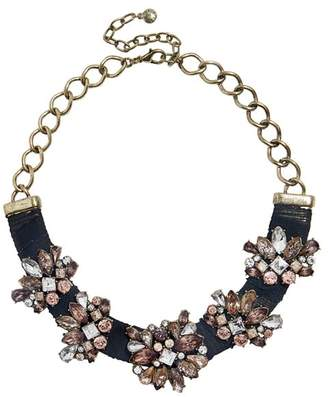BaubleBar Black Velvet Statement Necklace, 16""
