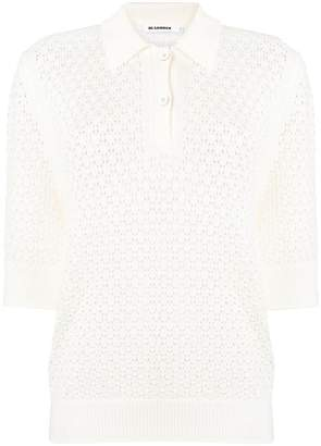 Jil Sander knitted polo shirt