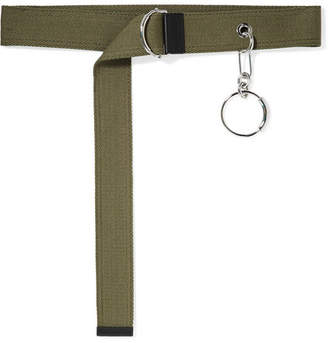 Chloé Embellished Canvas Waist Belt - Army green