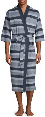 Black Brown 1826 Kimono Stripe Robe